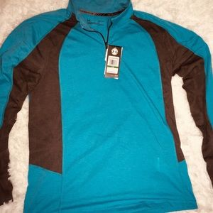 """Under Armour Turquoise 1/4"""" Zip Up Long Sleeve LG"""